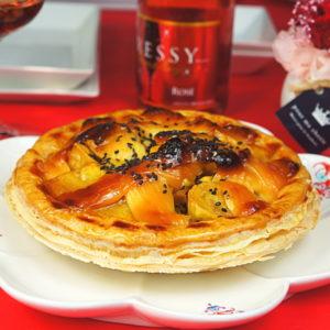 大学芋のアップルパイ
